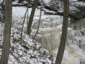 Unnamed waterfall - frozen nice & solid, the way we like them!