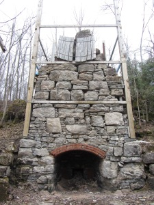 Lime kiln being restored