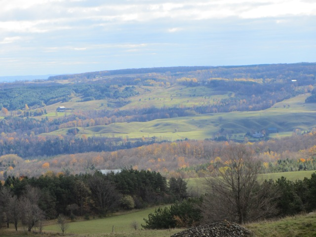 Breathtaking vista, overlooking the Pine River Valley