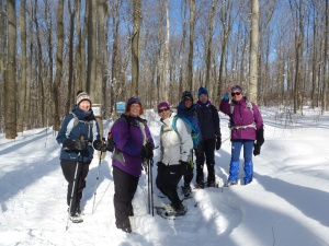 Hearty Hardy January Hikers (minus Susan & Julie who are taking pics)