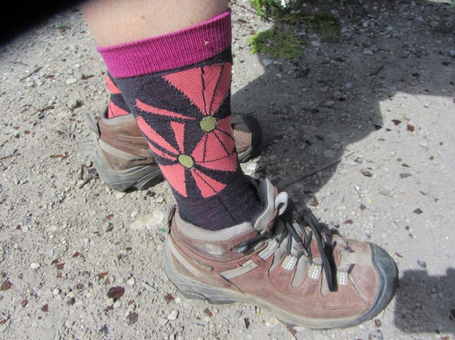 The choice of socks can make or break your day! Here we see the correct balance of comfort and style!